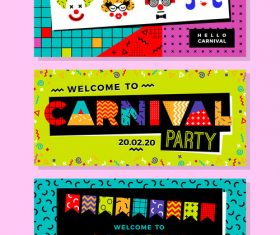 Carnival Templates in Memphis Style vector