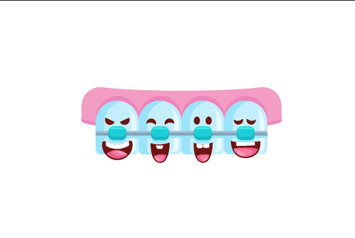 Cartoon Dental Health Vector Illustration