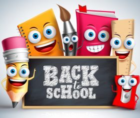 Cartoon background back to school vector