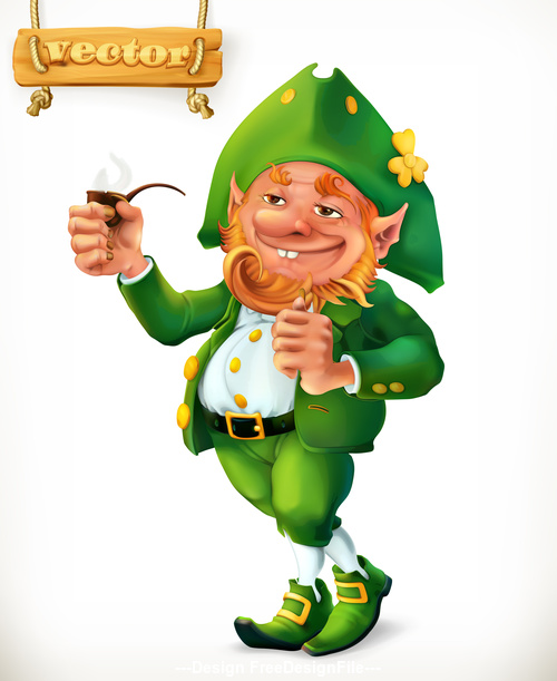 Cartoon character Feast of Saint Patrick 3d vector icon