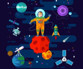 Cartoon option space vector