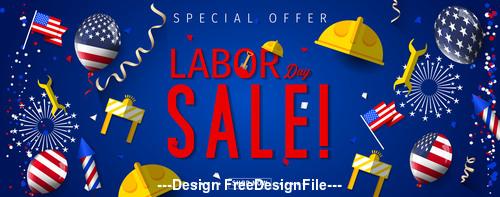 Celebration Labor day Promotion design vector