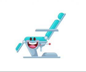 Chair cartoon vector