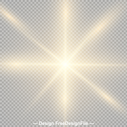Checkered background golden glow light effect vector