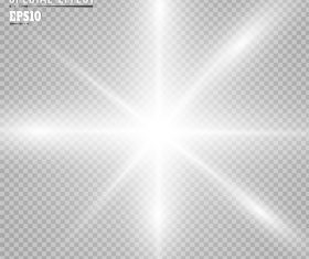 Checkered background white glow light effect vector