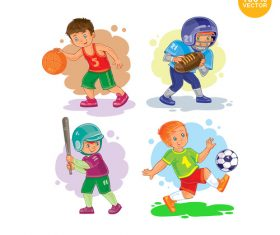Childrens physical exercise vector