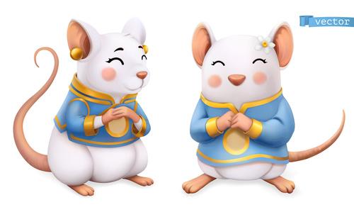 china zodiac rat 3d vector icon vector free download china zodiac rat 3d vector icon vector