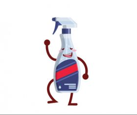 Cleaning Bottle cartoon vector