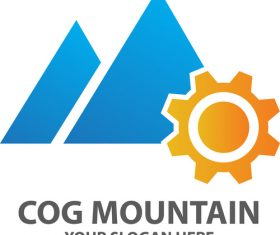 Cog Mountain Logo vector