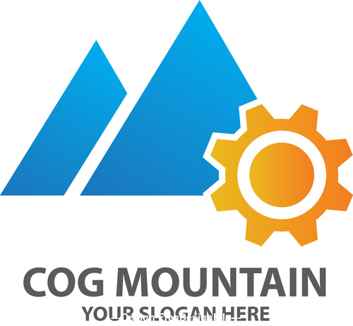 Cog Mountain Logo vector