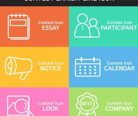 Color contest exhibit icon vector
