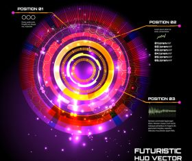 Color futuristic hud vector background