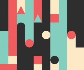 Colored castles abstract geometric vector backgrounds