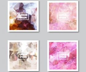 Colored diamond background abstract card vector