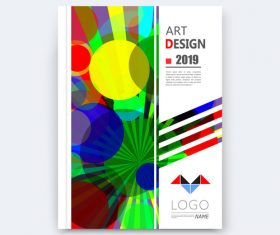 Colorful round background brochure design vector