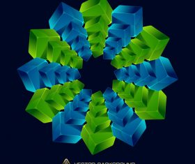 Combination blue and green squares vector illustration