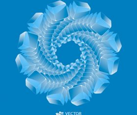 Combination blue background rotating circle pattern vector