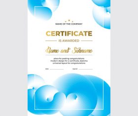 Commercial Certificate template vector