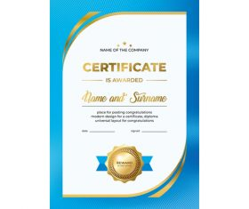 Company Certificate template vector