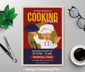 Cooking flyers vector