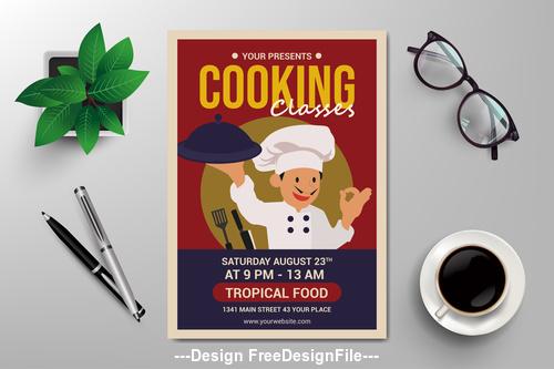 Cooking flyers vector