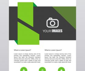 Corporate flyer design template vector