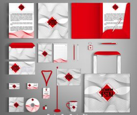 Corporate identity template design vector