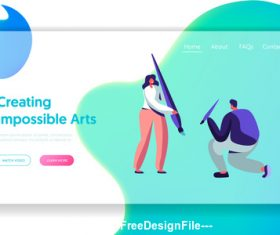 Creating impossible arts flat banner vector