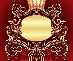 Crown and decorative frame vector