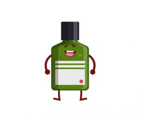Cute Medicine Bottle Vector Illustration 04