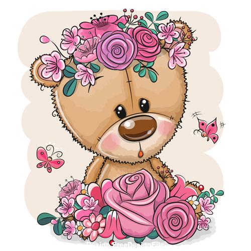 Cute animals cartoon 3d illustration vector