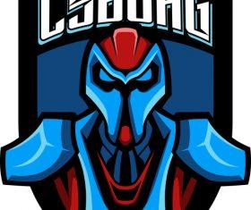 Cyborg mascot esports logo vector