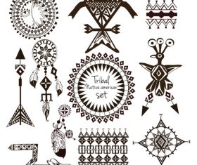 Decorative Indians vector