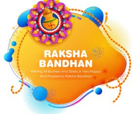 Decorative Rakhi for Raksha Bandhan Indian vector 01