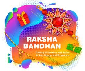 Decorative Rakhi for Raksha Bandhan Indian vector 02