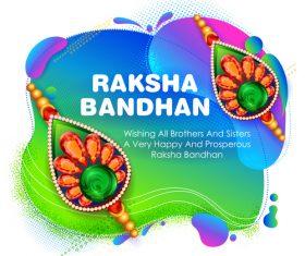 Decorative Rakhi for Raksha Bandhan Indian vector 03