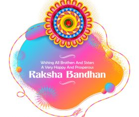 Decorative Rakhi for Raksha Bandhan Indian vector 04