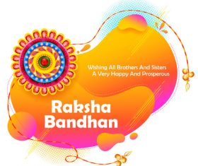 Decorative Rakhi for Raksha Bandhan Indian vector 05