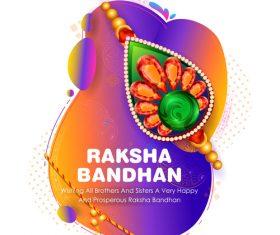 Decorative Rakhi for Raksha Bandhan Indian vector 06