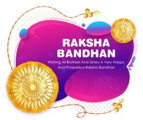 Decorative Rakhi for Raksha Bandhan Indian vector 07