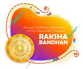 Decorative Rakhi for Raksha Bandhan Indian vector 08