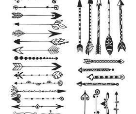 Decorative arrows vector