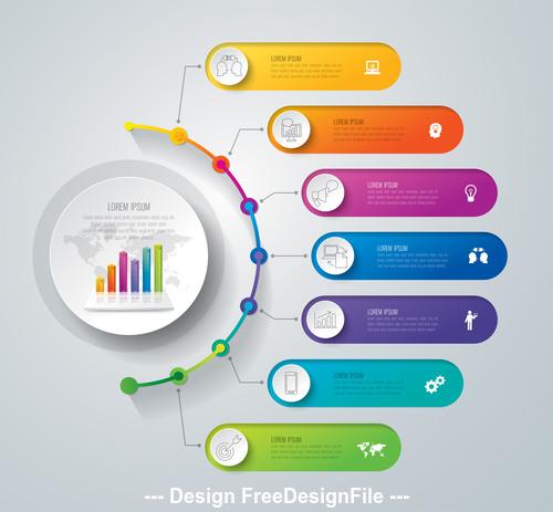Design Infographics banner vector