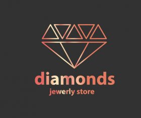 Diamonds logos in vector