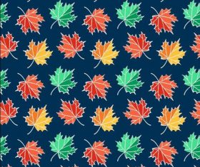 Different color leaves seamless pattern vector