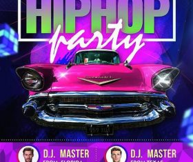 Disco Party flyer design psd template