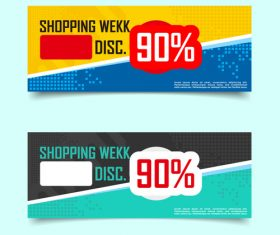 Discount banner template design vector
