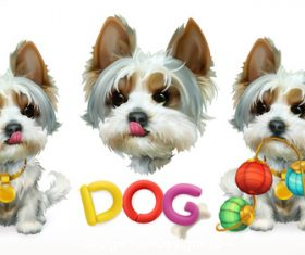 Dog 3d vector icon vector
