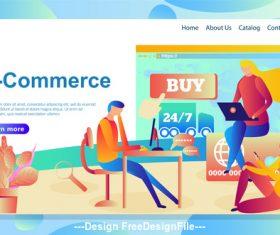 E-commerce flat banner vector
