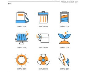Eco abstract icon vector